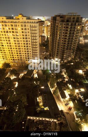Night cityscape of Baku 2008 - Stock Photo