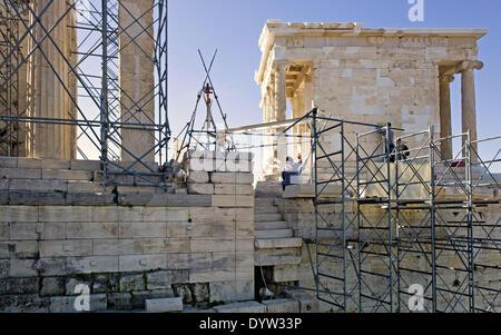The Propylaea and the Temple of Athena Nike - Stock Photo
