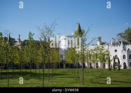 Strawberry Hill House and the Lime Grove, Twickenham, London, UK - Stock Photo