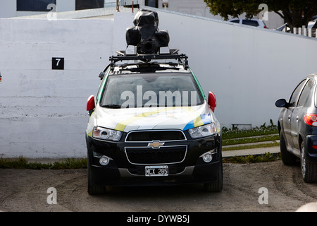 google street view car parked in ushuaia argentina - Stock Photo