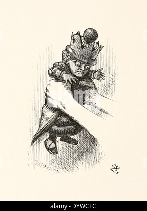 John Tenniel (1820-1914) illustration from Lewis Carroll's 'Through the Looking-Glass' published in 1871. Shakes - Stock Photo