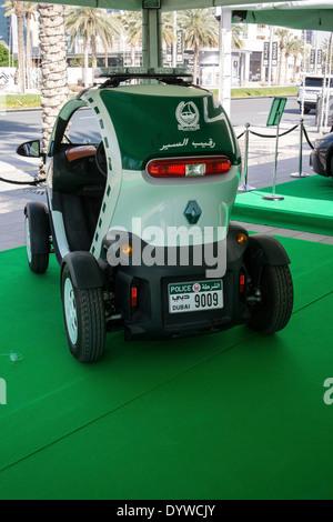 Dubai Police Renault Twizy Electric Patrol Car - Stock Photo