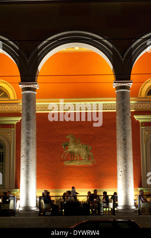 Germany, Bavaria, Munich, Maximilianstrasse Street, Opera Cafe in the Former Main Post Office - Stock Photo