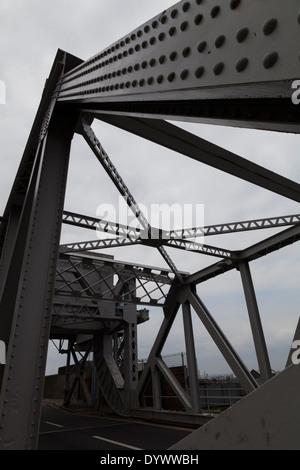 The Stanley Dock Bascule Bridge, Liverpool - Stock Photo