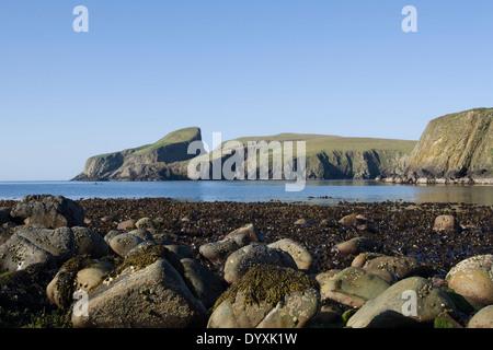 Sheep rock on the Fair isle, an island in the Atlantic ocean ...