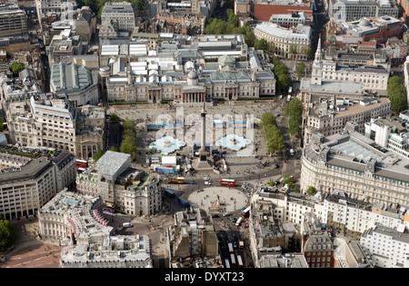 Trafalgar Square & National Portrait Museum, London, U.K. - Stock Photo