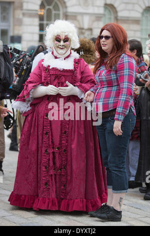 London, UK. 27 April 2014. Sci-Fi fans gathered in the Courtyard of Somerset House, London, and dressed up as their - Stock Photo