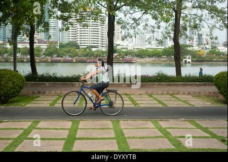 Bangkok Thailand - benjakiti park - Stock Photo