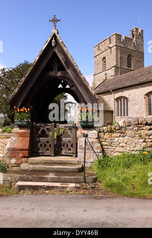 Old Radnor Powys Wales St Stephen's Church - Stock Photo