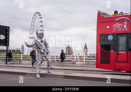 London, 27 April 2014 - people dressed as their favourite sc-fi characters take part in the Sci-Fi London 2014 costume - Stock Photo