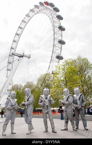 London, 27 April 2014 - people dressed as their favourite sci-fi characters take part in the Sci-Fi London 2014 - Stock Photo