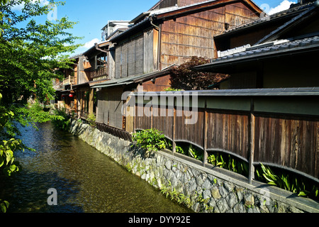 Shirakawa-minami-dori, One of the most beautiful and at the same time the most typical Japanese places - Stock Photo