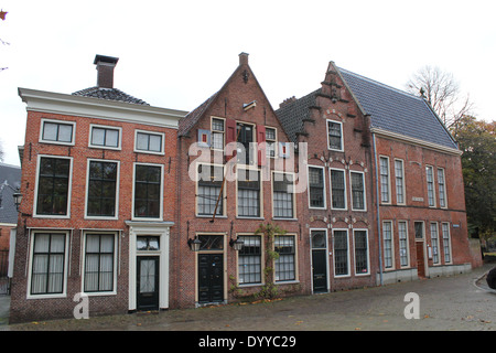 Martinikerhof, one of the oldest squares in the old medieval center of  Groningen, The Netherlands - Stock Photo