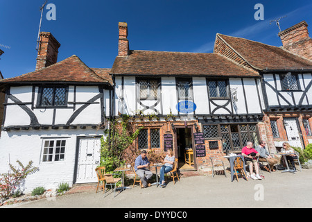 Shelleys Tearooms in the Pretty Village of Chilham nr Canterbury Kent - Stock Photo