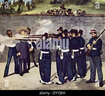 Edouard Manet The Execution of Emperor Maximilian - Stock Photo
