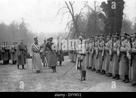 Emperor Charles I. visits Emperor Wilhelm II., 1917 - Stock Photo