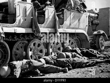 Military action on the egytian border, battle of El Alamein, 1942 - Stock Photo
