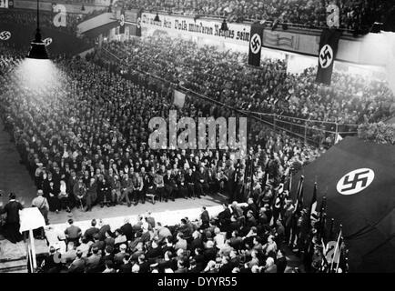 NSDAP election rally, 1933 - Stock Photo