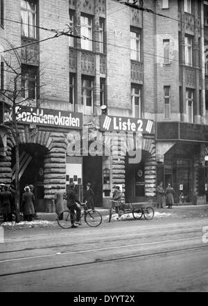 SPD election banners, 1933 - Stock Photo
