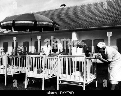 The Lebensborn maternity home in Upper Bavaria, 1940 - Stock Photo