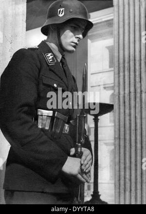 SS Honours Guards at the Munich Königsplatz - Stock Photo