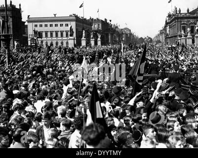 Hitler after a rally in Berlin Lustgarten, 1934 - Stock Photo