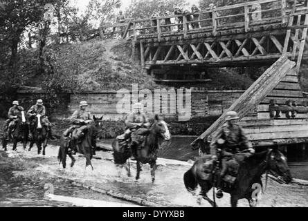 German troops,1939, German cavalry in Poland, 1939 - Stock Photo