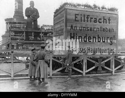 Box with war donations in Berlin, 1916 - Stock Photo