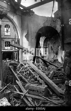 Demolished museum, 1918 - Stock Photo