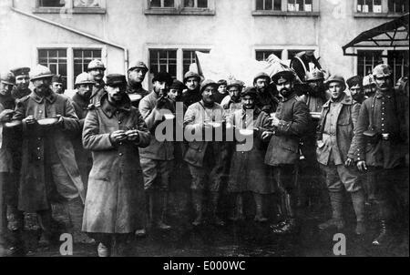 French prisoners of war from Hartmannsweilerkopf, 1916 - Stock Photo