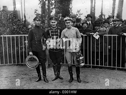 Anti-German propaganda of the Russians in the First World War - Stock Photo