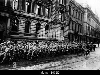 Reservists in Hamburg, 1914 - Stock Photo