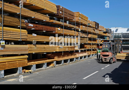 timber yard, caen, normandy, france - Stock Photo