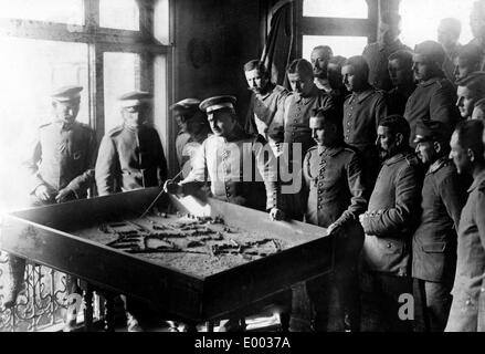 Tactical meeting of German officers, 1915 - Stock Photo