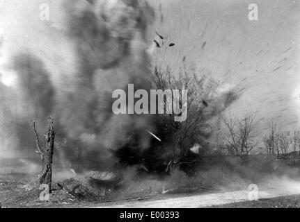 Bomb impact near Verdun, 1916 - Stock Photo