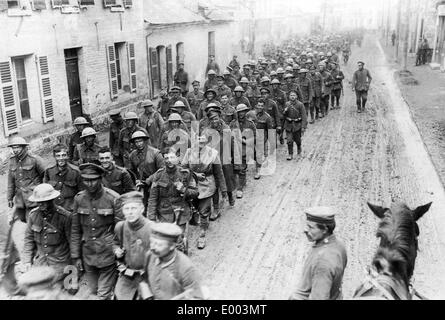 British prisoners at the Western Front, 1918 - Stock Photo