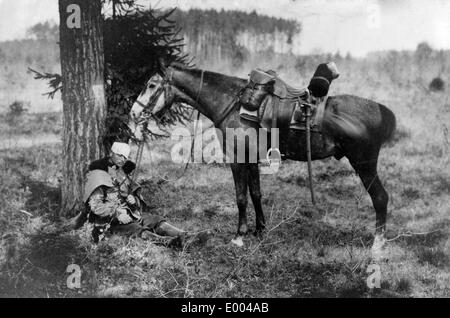 Wounded Austro-Hungarian soldier, 1915 - Stock Photo