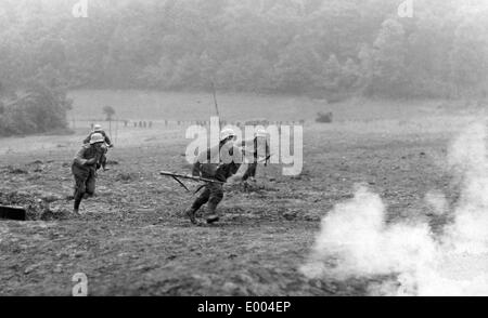 German storm troop attacks during the First Word War - Stock Photo