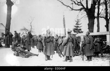 Russian troops having a halt - Stock Photo