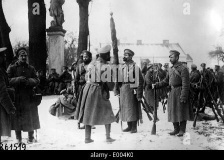 Russian troops during WWI - Stock Photo