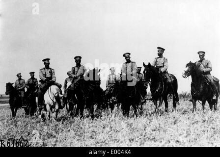 Russian regimental cadre in the First World War - Stock Photo