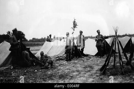 Russian camp in the First World War - Stock Photo