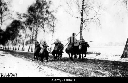 Russian Cossacks during WW I - Stock Photo