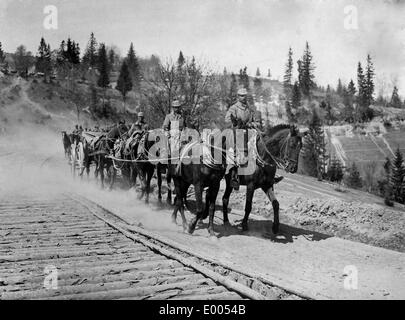 German cavalry at the Lissa Pass, 1915 - Stock Photo