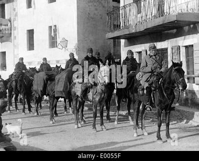 Austro-Hungarian Honved hussars in Montnegro, 1916 - Stock Photo