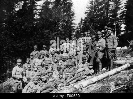 Austro-Hungarian soldiers in the Fort Campolongo, 1916 - Stock Photo