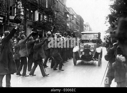 Arrival of Wilhelm II. in Berlin, 1914 - Stock Photo