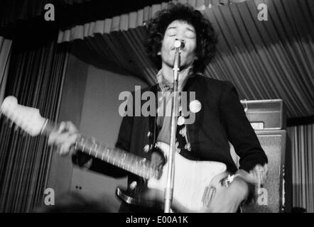 Jimi Hendrix in the Star-Club in Hamburg - Stock Photo
