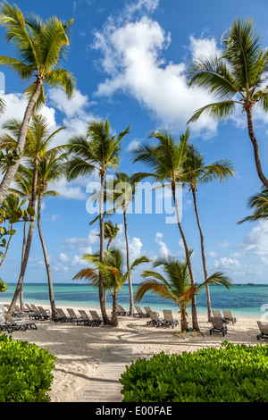 Luxury resort beach in Punta Cana, Dominican Republic - Stock Photo