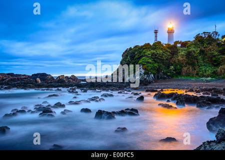 Shionomisaki Cape, Kushimoto, Japan. The cape marks the southern most point on Honshu, the main island of Japan. - Stock Photo